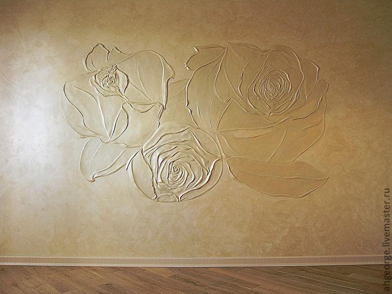14 Ручной барельфе розы украсит стену и