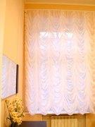 Французские шторы - цельное полотно с воздушно - пышными ниспадающими складками.