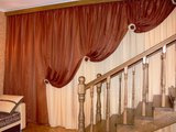 Императорские шторы - одна из разновидностей ассиметричных штор