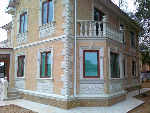 Отделка фасада натуральным камнем фото 6