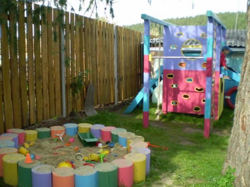 Что можно сделать для детской площадки своими руками фото